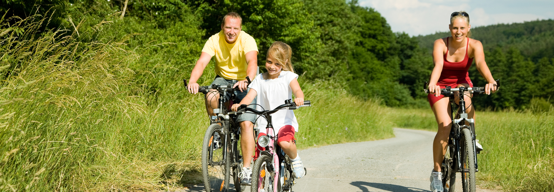 Fietsroute Veluwe met fietsers die Arthuur fietsroute Veluwe fietsen.