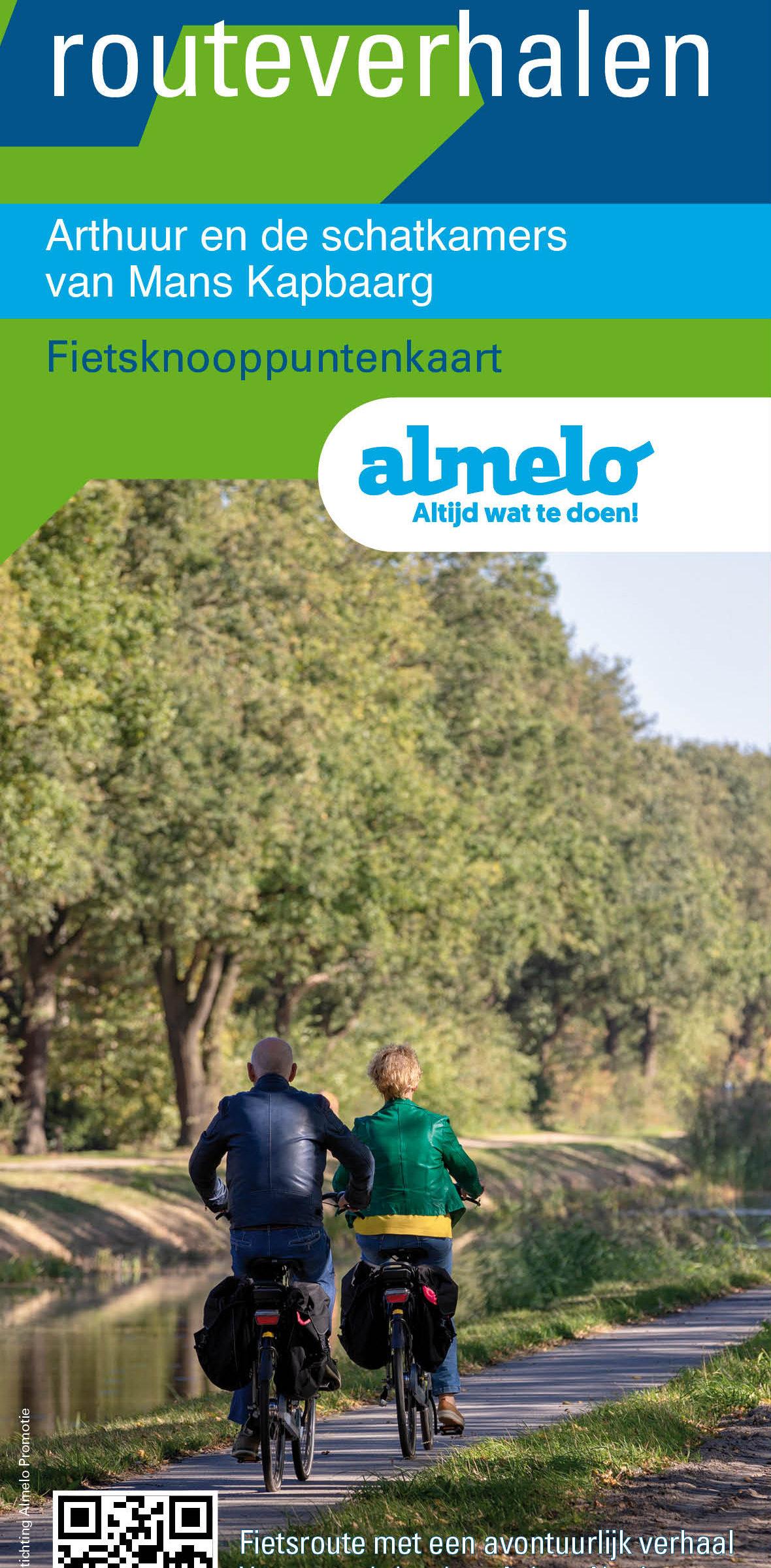 Cover Arthuur fietsknooppuntenkaart Almelo en Twente